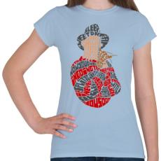 PRINTFASHION Édes álom - Női póló - Világoskék
