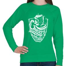PRINTFASHION Egészségedre - Női pulóver - Zöld