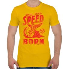 PRINTFASHION Égető sebesség - Férfi póló - Sárga