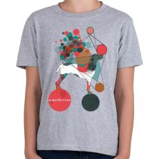 PRINTFASHION Egyensúlyban - Gyerek póló - Sport szürke