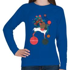 PRINTFASHION Egyensúlyban - Női pulóver - Királykék