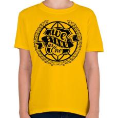 PRINTFASHION Együtt - Gyerek póló - Sárga