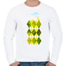 PRINTFASHION Elegant forest - Férfi pulóver - Fehér