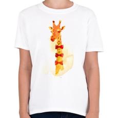 PRINTFASHION Elegant giraffe - Gyerek póló - Fehér