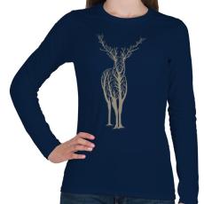 PRINTFASHION Élővilág - Női hosszú ujjú póló - Sötétkék