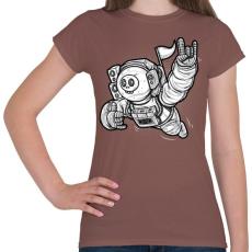 PRINTFASHION Elveszve az űrben - Női póló - Mogyoróbarna
