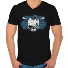 PRINTFASHION Embertelen - Férfi V-nyakú póló - Fekete