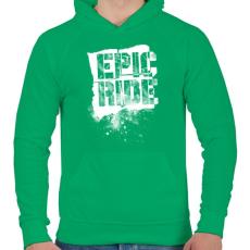 PRINTFASHION Epic Ride - fehér - Férfi kapucnis pulóver - Zöld