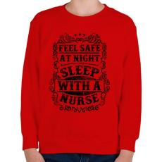 PRINTFASHION Érezd magad biztonságban éjszaka, aludj nővérrel!  - Gyerek pulóver - Piros