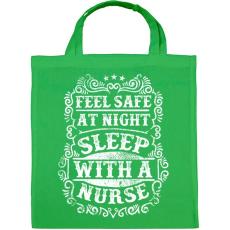 PRINTFASHION Érezd magad biztonságban éjszaka, aludj nővérrel!  - Vászontáska - Zöld
