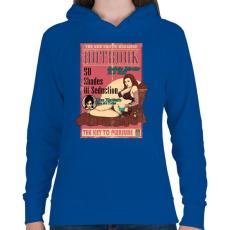 PRINTFASHION Erotikus könyv - Női kapucnis pulóver - Királykék