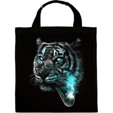 PRINTFASHION Értelmiségi tigris - Vászontáska - Fekete
