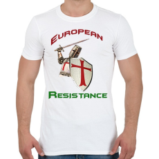 PRINTFASHION European Resistance - Férfi póló - Fehér
