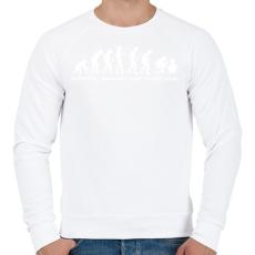 PRINTFASHION Evolúció - Férfi pulóver - Fehér