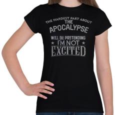 PRINTFASHION Exciting apocalypse - Női póló - Fekete