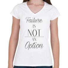 PRINTFASHION Failure - Női V-nyakú póló - Fehér
