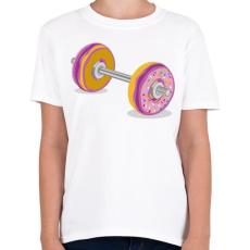 PRINTFASHION Fánk súlyzó - Gyerek póló - Fehér