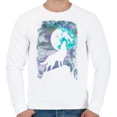 PRINTFASHION Farkas holdfényben - Férfi pulóver - Fehér