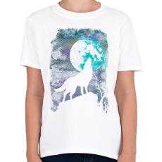 PRINTFASHION Farkas holdfényben - Gyerek póló - Fehér