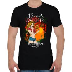 PRINTFASHION Farmerek lánya - Férfi póló - Fekete
