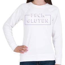 PRINTFASHION fcuk-gluten-white-purple - Női pulóver - Fehér