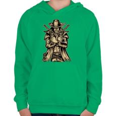 PRINTFASHION Fegyveres - Gyerek kapucnis pulóver - Zöld