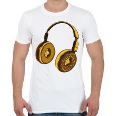 PRINTFASHION Fejhallgató - Férfi póló - Fehér