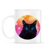 PRINTFASHION Fekete macska - Bögre - Fehér