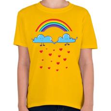 PRINTFASHION Felhőcskék - Gyerek póló - Sárga