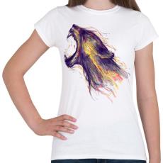 PRINTFASHION Fellobban - Női póló - Fehér