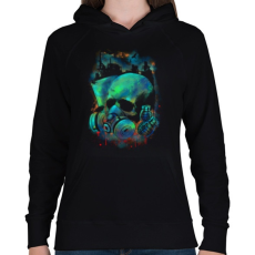 PRINTFASHION Fertőzés - Női kapucnis pulóver - Fekete