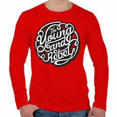 PRINTFASHION Fiatal és lázadó - Férfi hosszú ujjú póló - Piros