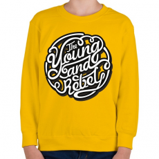 PRINTFASHION Fiatal és lázadó - Gyerek pulóver - Sárga