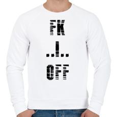 PRINTFASHION FK OFF - Férfi pulóver - Fehér