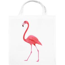 PRINTFASHION Flamingós póló - Vászontáska - Fehér