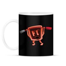 PRINTFASHION Flash - Bögre - Fekete ajándéktárgy