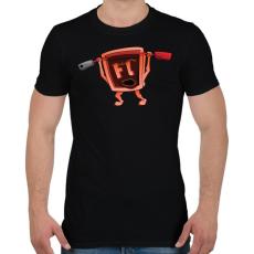 PRINTFASHION Flash - Férfi póló - Fekete