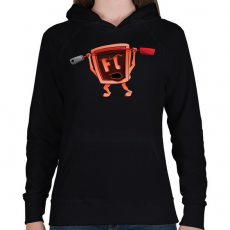 PRINTFASHION Flash - Női kapucnis pulóver - Fekete