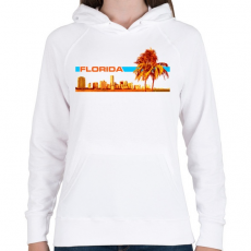 PRINTFASHION Florida - Női kapucnis pulóver - Fehér