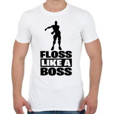 PRINTFASHION Floss Like A Boss - Férfi póló - Fehér