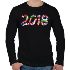 PRINTFASHION Foci VB 2018 - Férfi hosszú ujjú póló - Fekete férfi póló