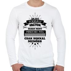PRINTFASHION Fodrász - Férfi hosszú ujjú póló - Fehér