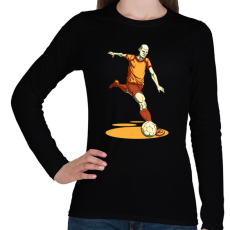 PRINTFASHION Football  - Női hosszú ujjú póló - Fekete