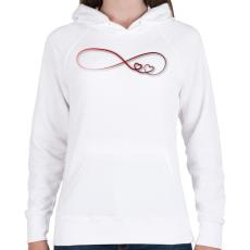 PRINTFASHION Forever2 - Női kapucnis pulóver - Fehér