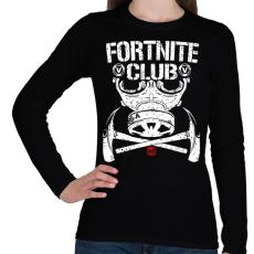 PRINTFASHION Fortnite Club - Női hosszú ujjú póló - Fekete