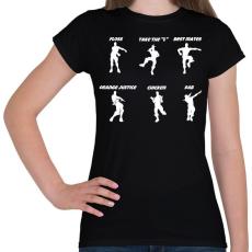 PRINTFASHION Fortnite Dance - Női póló - Fekete