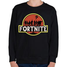 PRINTFASHION Fortnite Park - Gyerek pulóver - Fekete