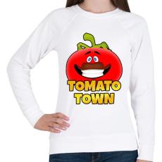 PRINTFASHION Fortnite - TOMATO TOWN - Női pulóver - Fehér