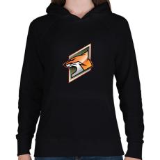 PRINTFASHION Fox - Női kapucnis pulóver - Fekete