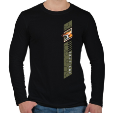 PRINTFASHION Fox Tactical - Férfi hosszú ujjú póló - Fekete